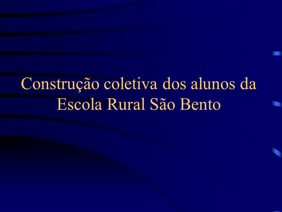 Construção coletiva dos alunos da Escola Rural São Bento
