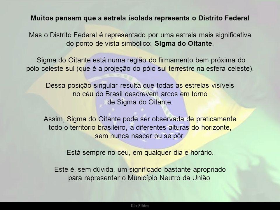 A estrela isolada é Spica, a principal estrela (estrela alfa) da constelação de Virgem. Na bandeira do Brasil, Spica tornou-se a representação do Esta
