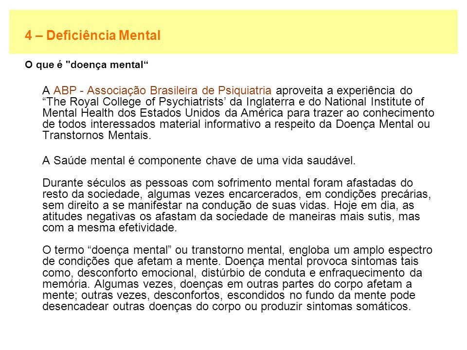 4 – Deficiência Mental O que é