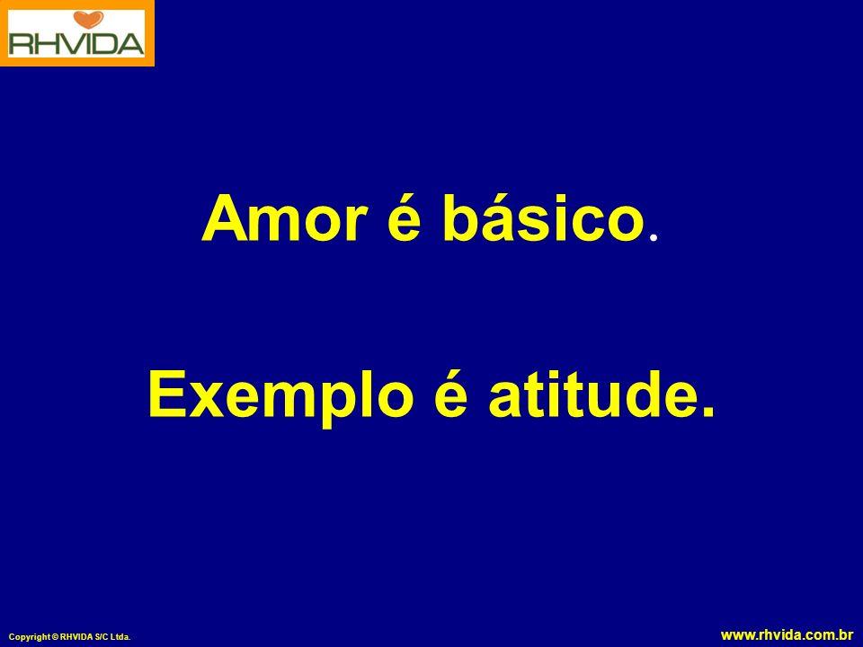 www.rhvida.com.br Copyright © RHVIDA S/C Ltda. Amor é básico. Exemplo é atitude.