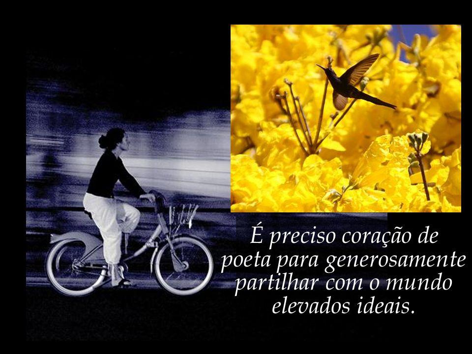 É preciso olhar de poeta para ver nas flores asas arcangelicais.