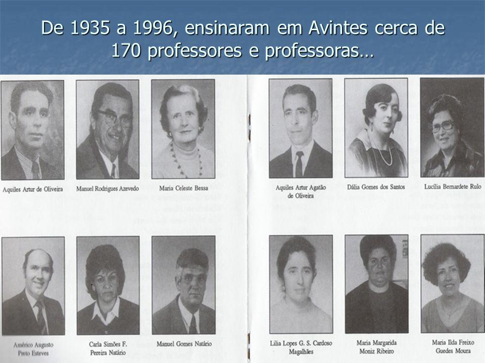 De 1935 a 1996, ensinaram em Avintes cerca de 170 professores e professoras…