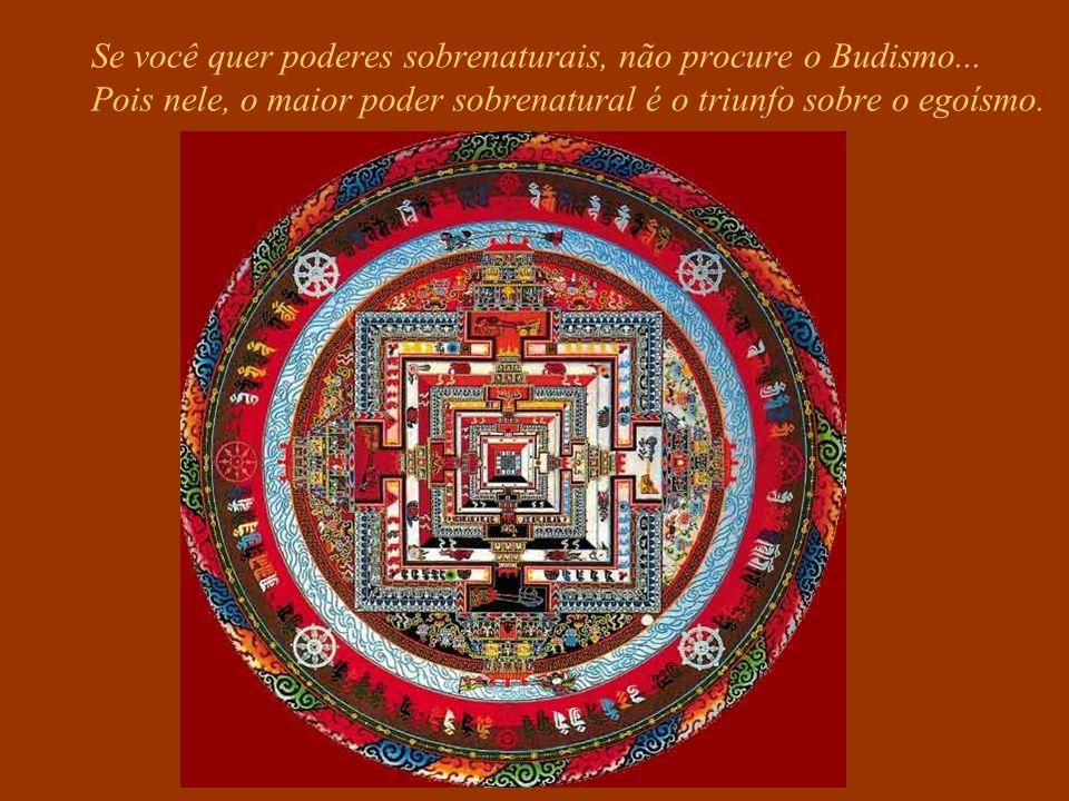 Se você quiser arranjar emprego ou melhorar sua situação financeira, não procure o Budismo... Você se decepcionará, pois ele vai lhe falar sobre desap