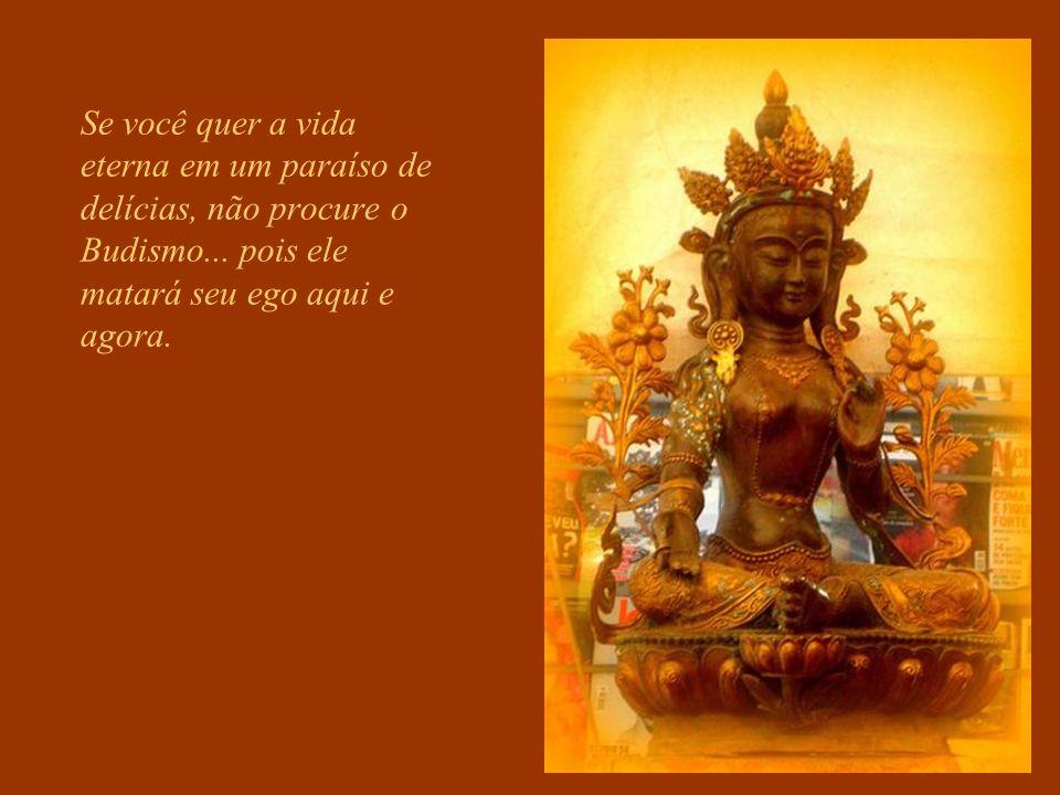 Se você quer a vida eterna em um paraíso de delícias, não procure o Budismo...