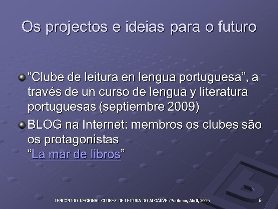 20 I ENCONTRO REGIONAL CLUBES DE LEITURA DO ALGARVE (Portimao, Abril, 2009)