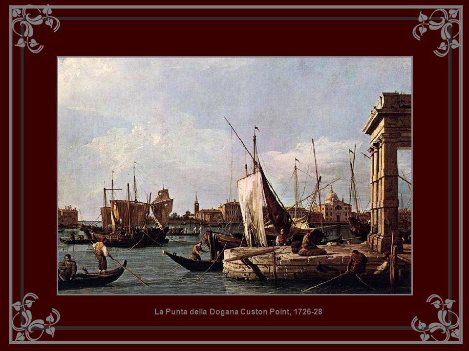 Grand Canal, looking North East towards the Rialto Bridge, c.1725