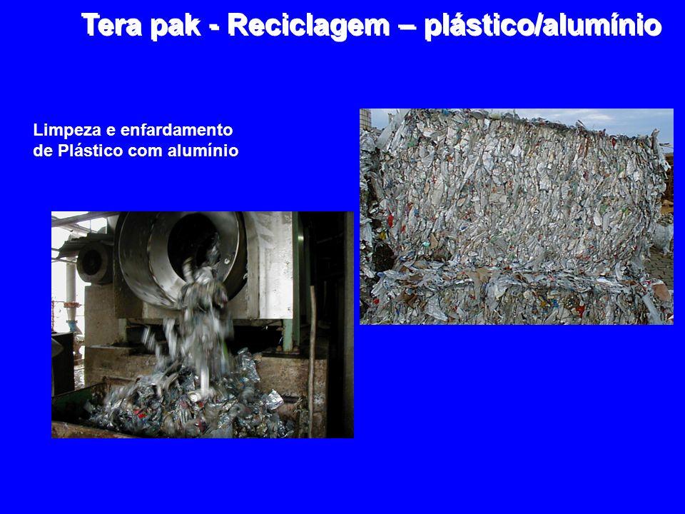 Limpeza e enfardamento de Plástico com alumínio Tera pak - Reciclagem – plástico/alumínio