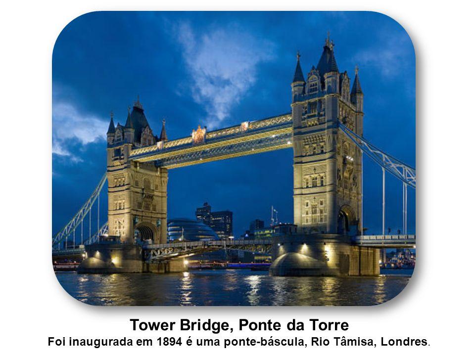 Tower Bridge, Ponte da Torre Foi inaugurada em 1894 é uma ponte-báscula, Rio Tâmisa, Londres.
