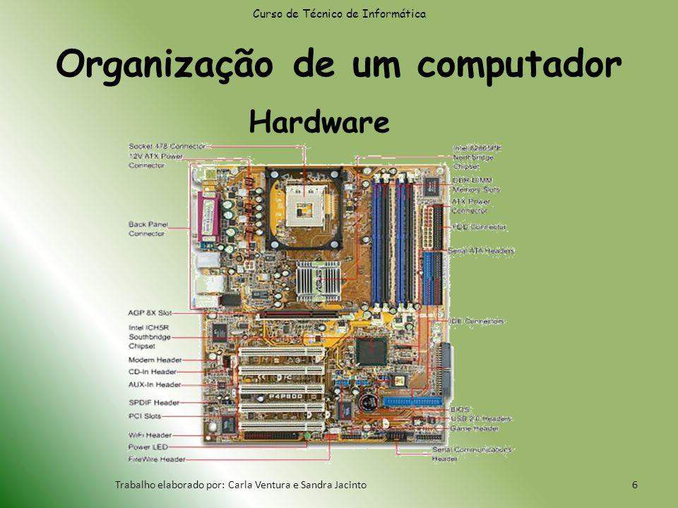 Organização de um computador Curso de Técnico de Informática Trabalho elaborado por: Carla Ventura e Sandra Jacinto6 Hardware