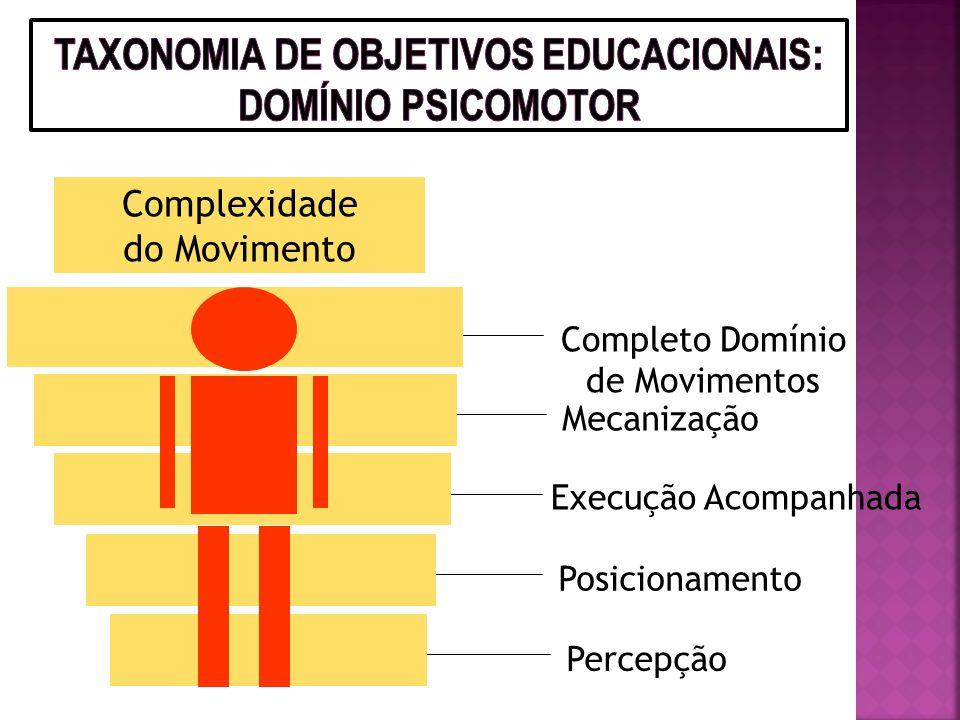 1. Recepção: percepção, disposição para receber e atenção seletiva 2. Resposta: participação ativa, disposição para responder e satisfação em responde