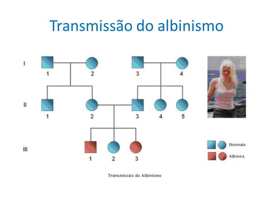 Transmissão do albinismo