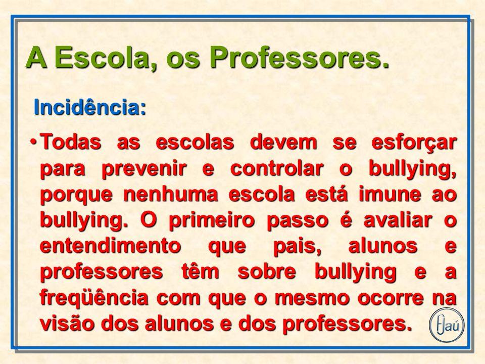 Todas as escolas devem se esforçar para prevenir e controlar o bullying, porque nenhuma escola está imune ao bullying.