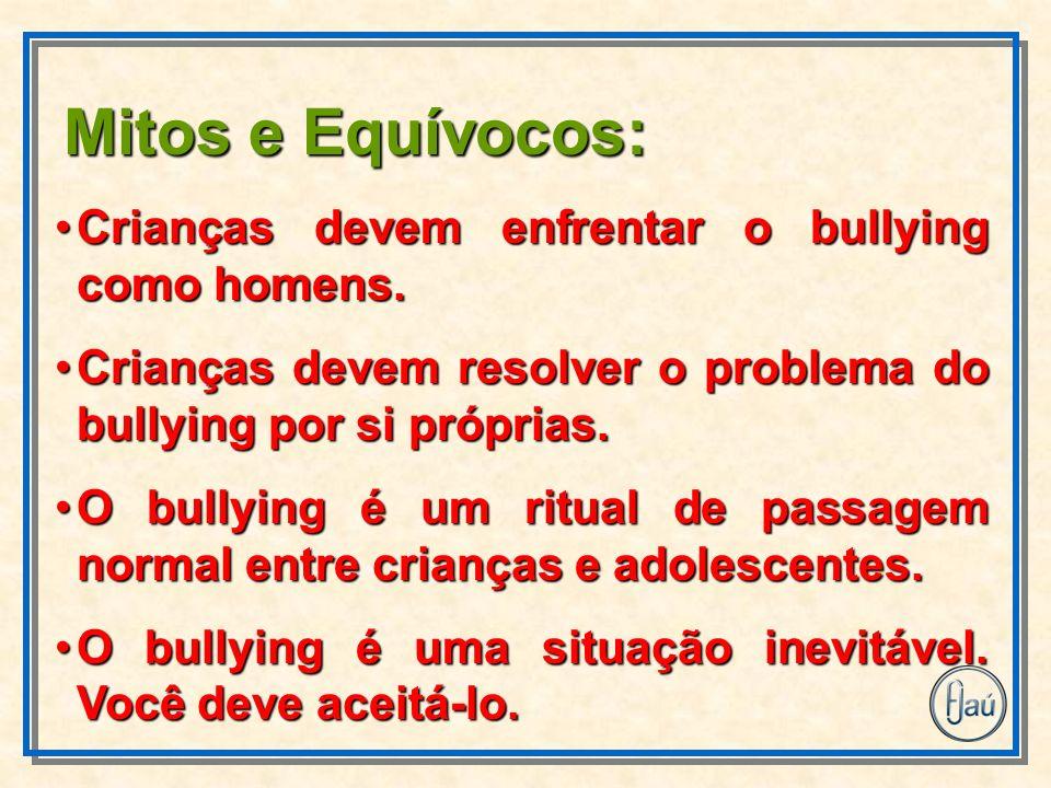 Crianças devem enfrentar o bullying como homens.Crianças devem enfrentar o bullying como homens. Crianças devem resolver o problema do bullying por si