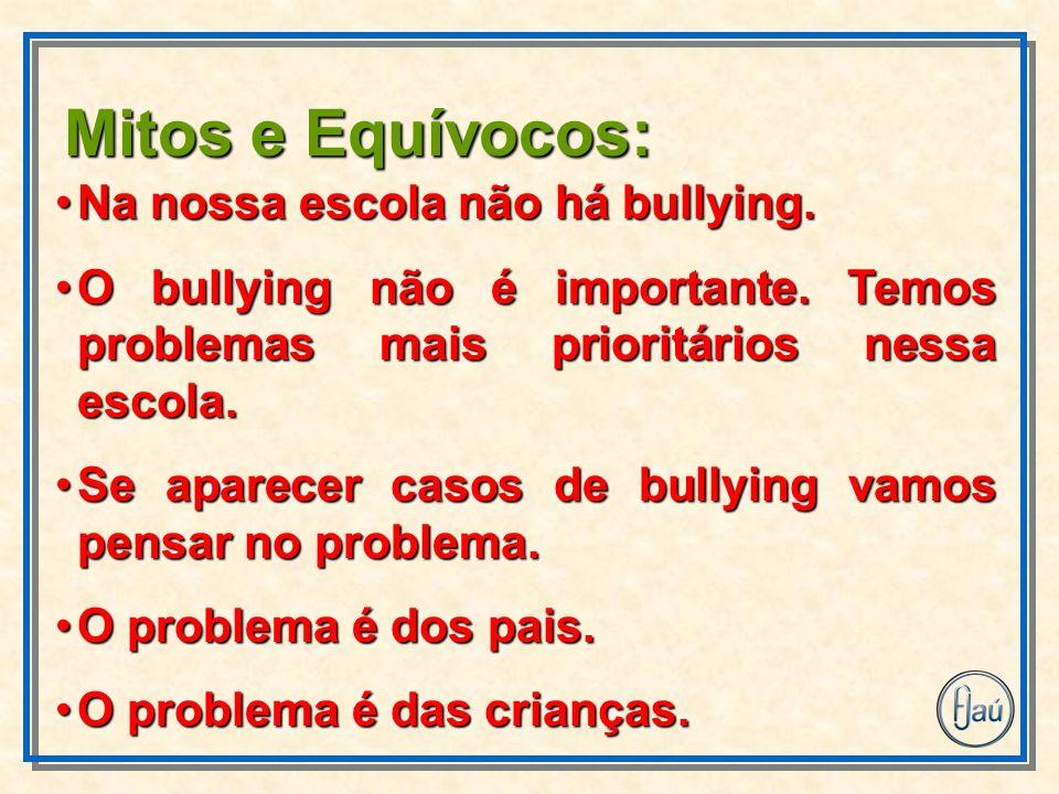 Na nossa escola não há bullying.Na nossa escola não há bullying. O bullying não é importante. Temos problemas mais prioritários nessa escola.O bullyin