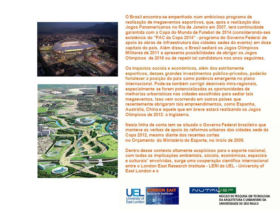 NUTAU/USP - Núcleo de Pesquisa em Tecnologia da Arquitetura e Urbanismo da Universidade de São Paulo, grupos de pesquisa de duas universidades, uma inglesa e outra brasileira.