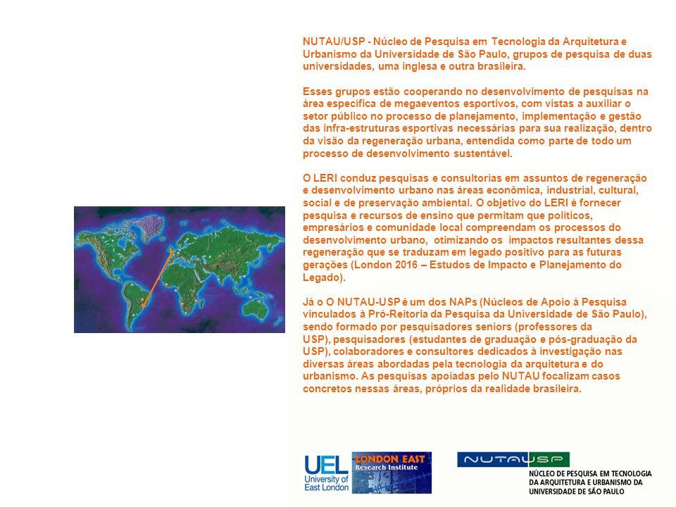 A presente informação reune as linhas de pesquisa desenvolvidas e/ou apoiadas pelos dois centros, de forma a estabelecer um conjunto de dados sobre experiências recentes em megaeventos esportivos internacionais e no Brasil.