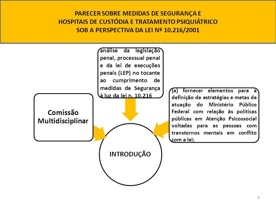 INTRODUÇÃO Comissão Multidisciplinar análise da legislação penal, processual penal e da lei de execuções penais (LEP) no tocante ao cumprimento de med
