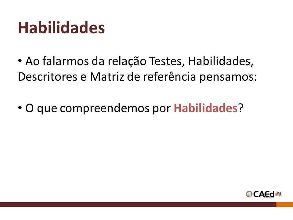 Habilidades Segundo Perrenoud (1999), – competências referem-se ao domínio prático de um tipo de tarefas e de situações.