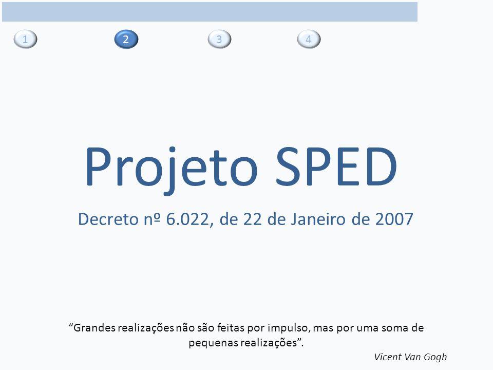 2 13 4 Projeto SPED Grandes realizações não são feitas por impulso, mas por uma soma de pequenas realizações.