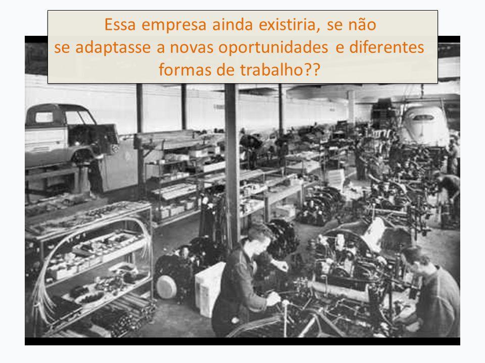 Essa empresa ainda existiria, se não se adaptasse a novas oportunidades e diferentes formas de trabalho?.