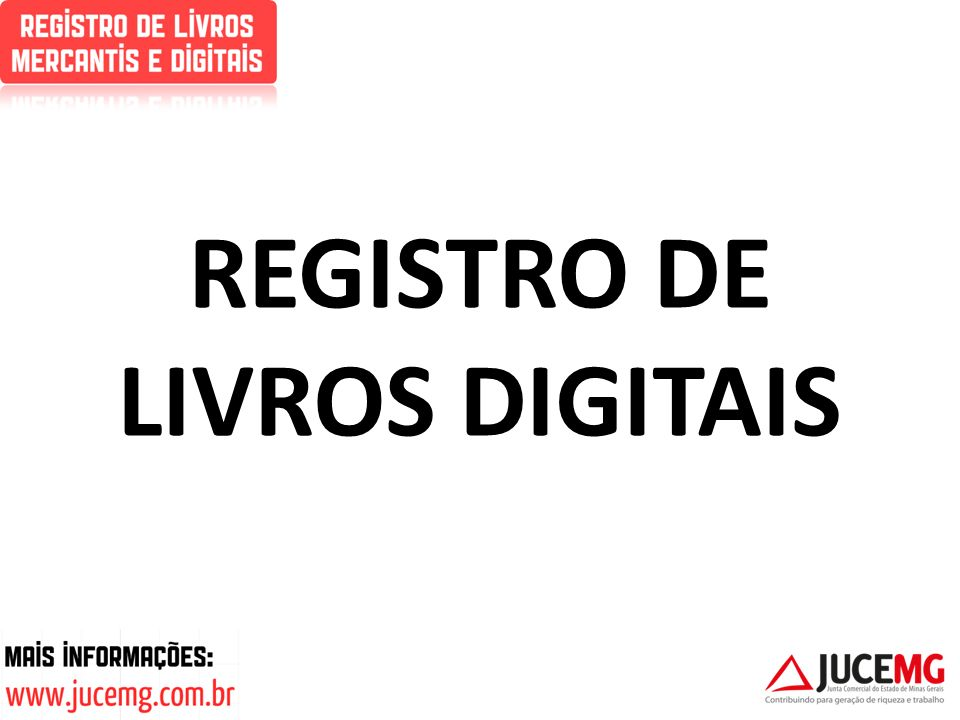 REGISTRO DE LIVROS DIGITAIS
