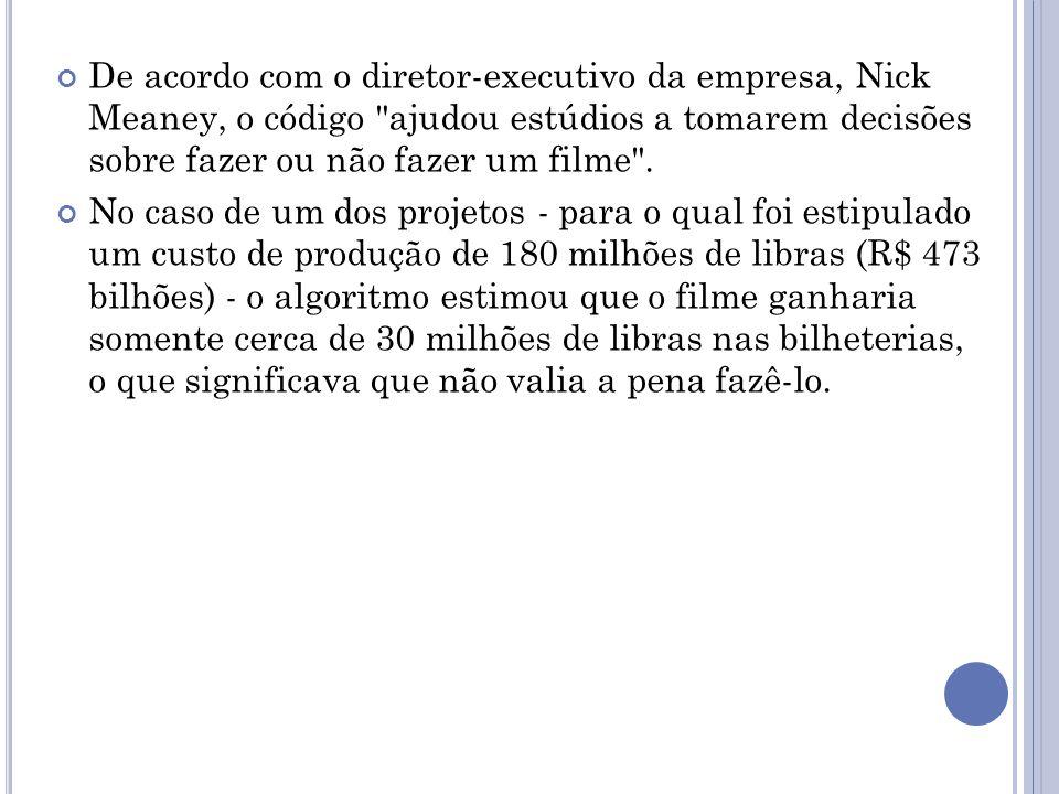 De acordo com o diretor-executivo da empresa, Nick Meaney, o código