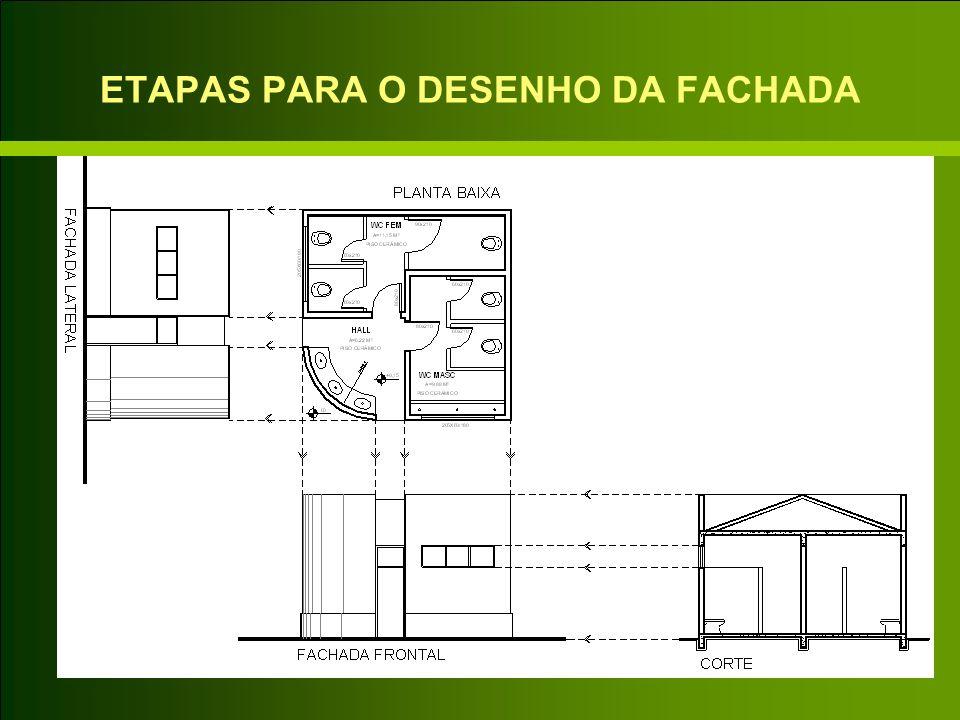 ETAPAS PARA O DESENHO DA FACHADA