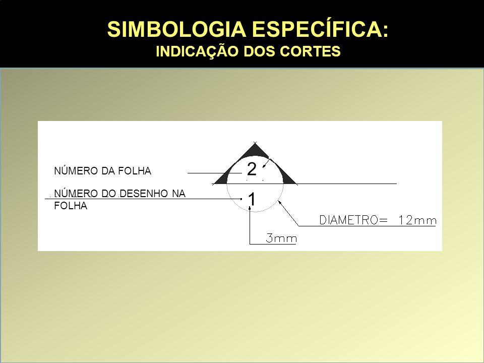 REPRESENTAÇÃO DOS ELEMENTOS CONSTRUTIVOS FUNDAÇÕES: São desenhadas em função dos materiais utilizados e de sua disposição geral, com dimensões aproximadas, pois seu detalhamento é função do projeto estrutural.