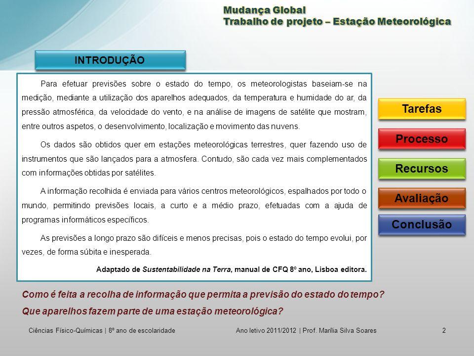 Ciências Físico-Químicas | 8º ano de escolaridade3 Ano letivo 2011/2012 | Prof.