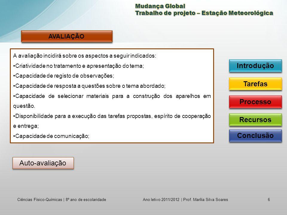 Ciências Físico-Químicas | 8º ano de escolaridade6 Ano letivo 2011/2012 | Prof.