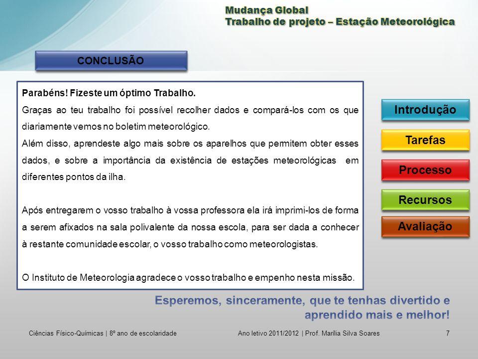 Ciências Físico-Químicas | 8º ano de escolaridade7 Ano letivo 2011/2012 | Prof.