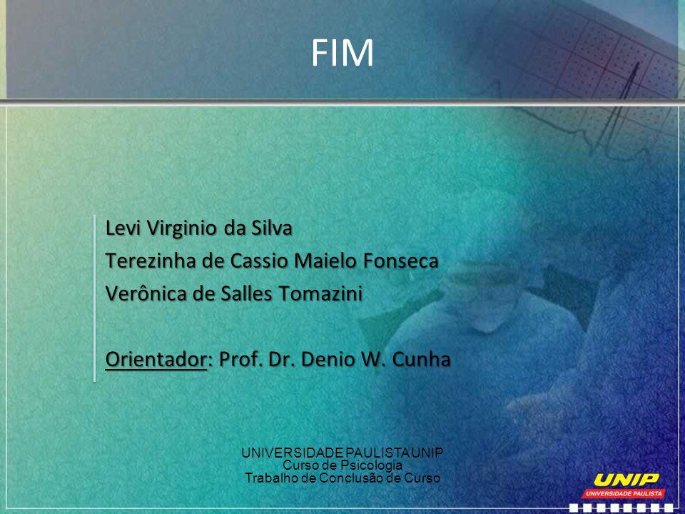 FIM Levi Virginio da Silva Terezinha de Cassio Maielo Fonseca Verônica de Salles Tomazini Orientador: Prof. Dr. Denio W. Cunha UNIVERSIDADE PAULISTA U