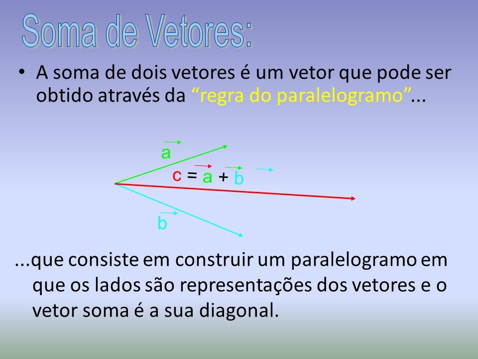 ...que consiste em construir um paralelogramo em que os lados são representações dos vetores e o vetor soma é a sua diagonal.