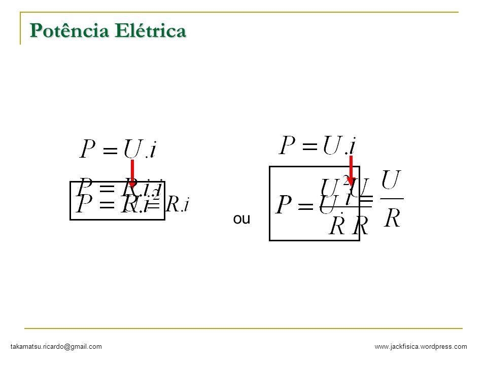 www.jackfisica.wordpress.comtakamatsu.ricardo@gmail.com Potência Elétrica ou