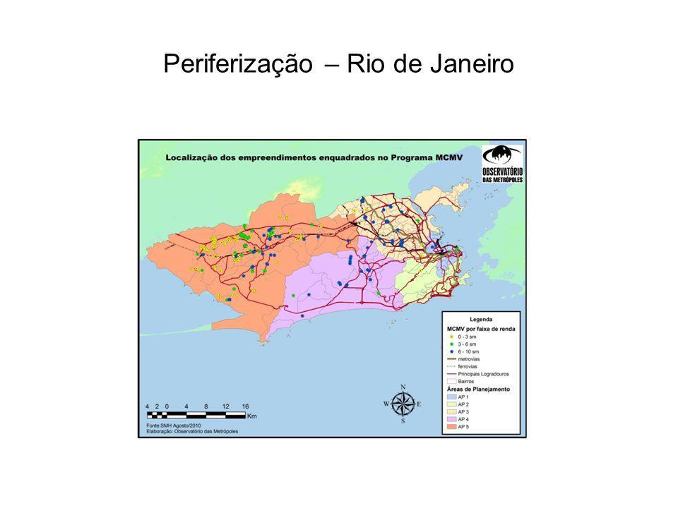 Periferização – Rio de Janeiro