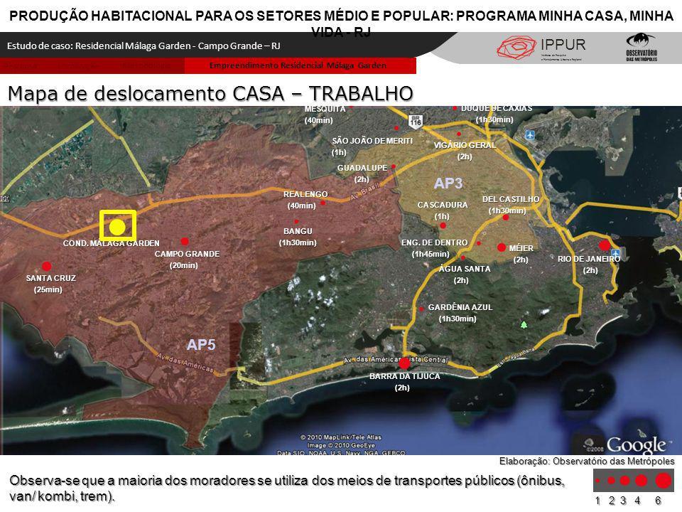 Metodologia LocalizaçãoPesquisa Empreendimento Residencial Málaga Garden CAMPO GRANDE (20min) (20min) SANTA CRUZ (25min) (25min) RIO DE JANEIRO (2h) C