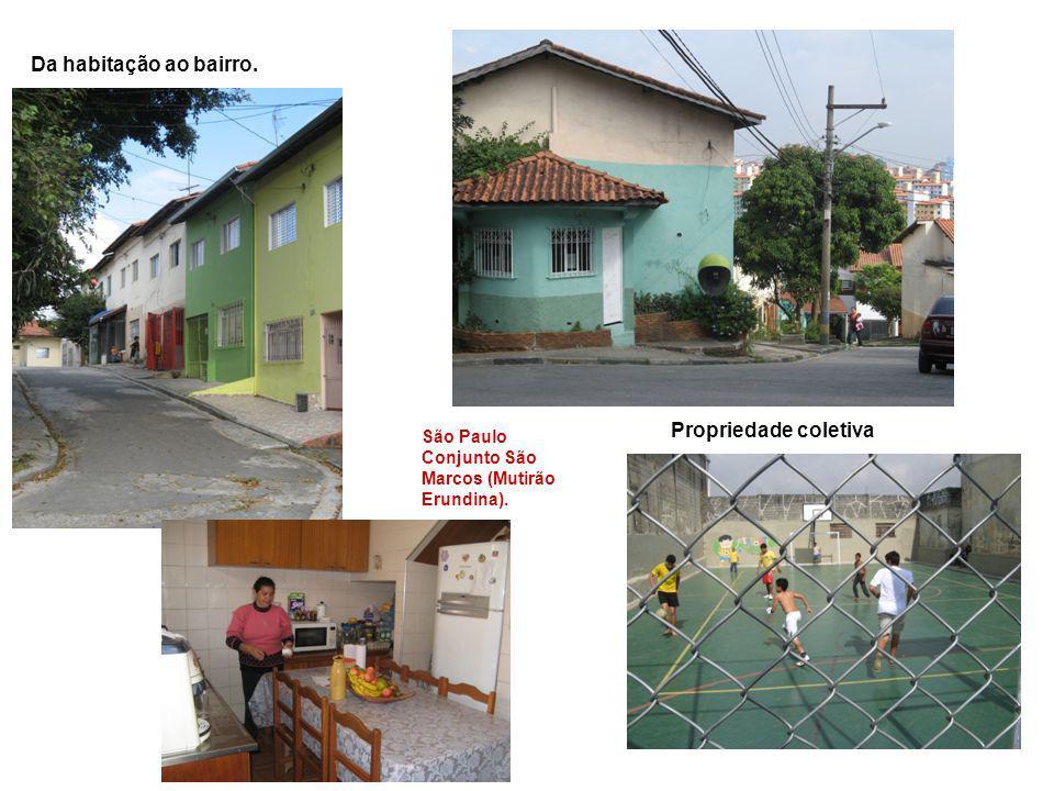 São Paulo Conjunto São Marcos (Mutirão Erundina). Da habitação ao bairro. Propriedade coletiva