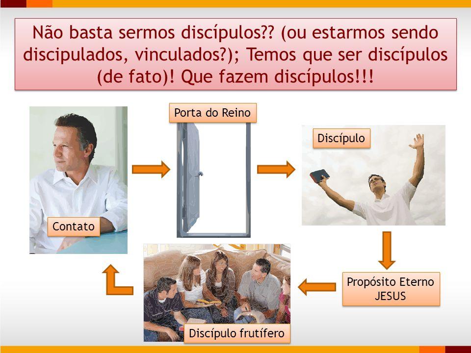 Não basta sermos discípulos?? (ou estarmos sendo discipulados, vinculados?); Temos que ser discípulos (de fato)! Que fazem discípulos!!! Contato Discí