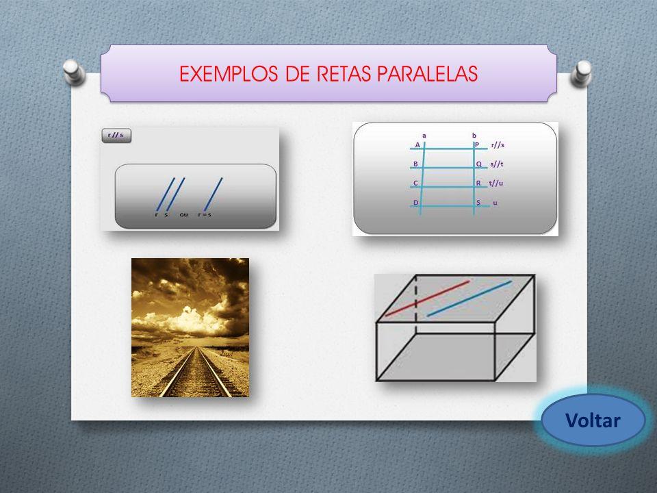 EXEMPLOS DE RETAS PARALELAS Voltar