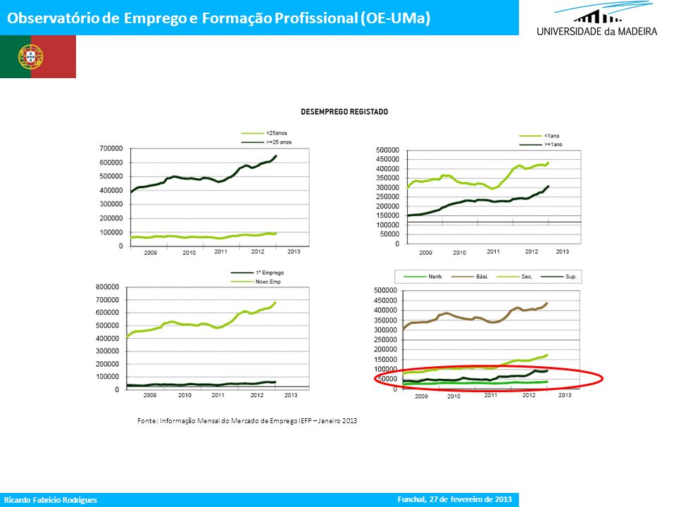 Gestão da Procura de Emprego Observatório de Emprego e Formação Profissional (OE-UMa) Fonte: Informação Mensal do Mercado de Emprego IEFP – Janeiro 20