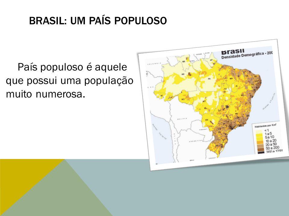 BRASIL: UM PAÍS POPULOSO País populoso é aquele que possui uma população muito numerosa.