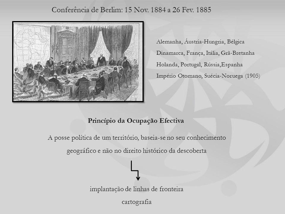 Conferência de Berlim: 15 Nov.1884 a 26 Fev.