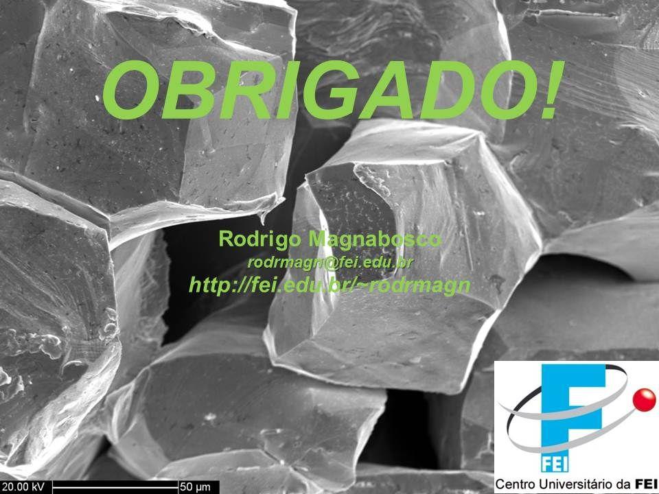 Engenharia de Materiais Rodrigo Magnabosco © 2011 http://fei.edu.br/~rodrmagn –Slide 22