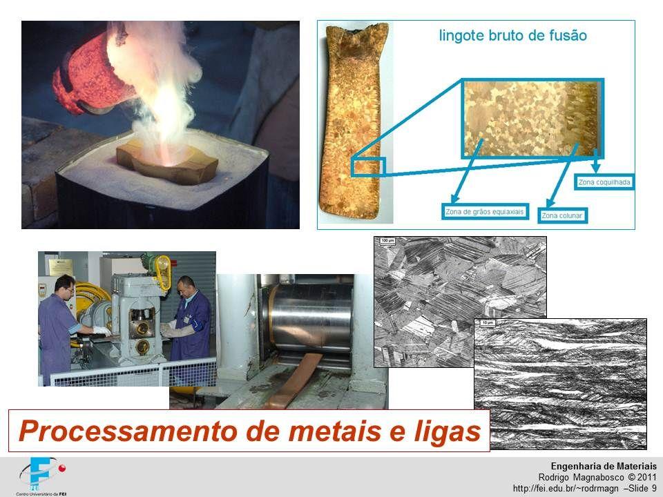 Engenharia de Materiais Rodrigo Magnabosco © 2011 http://fei.edu.br/~rodrmagn –Slide 9