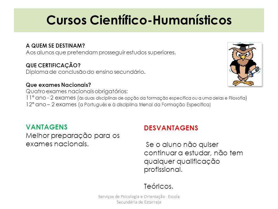 Cursos Científico-Humanísticos A QUEM SE DESTINAM.