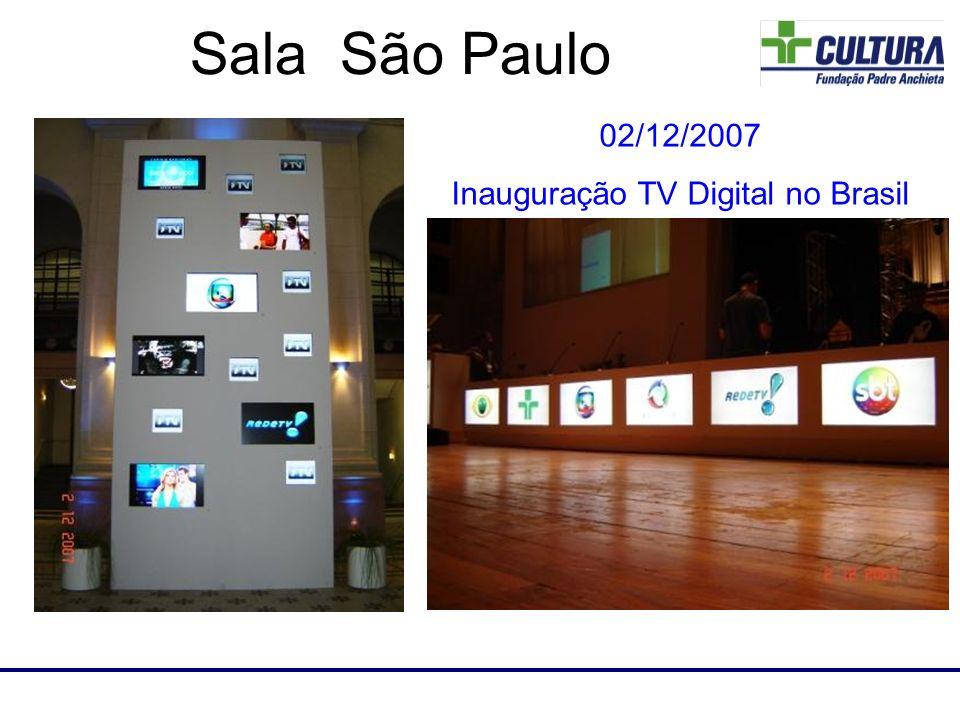 Laboratório de RF Sala São Paulo 02/12/2007 Inauguração TV Digital no Brasil