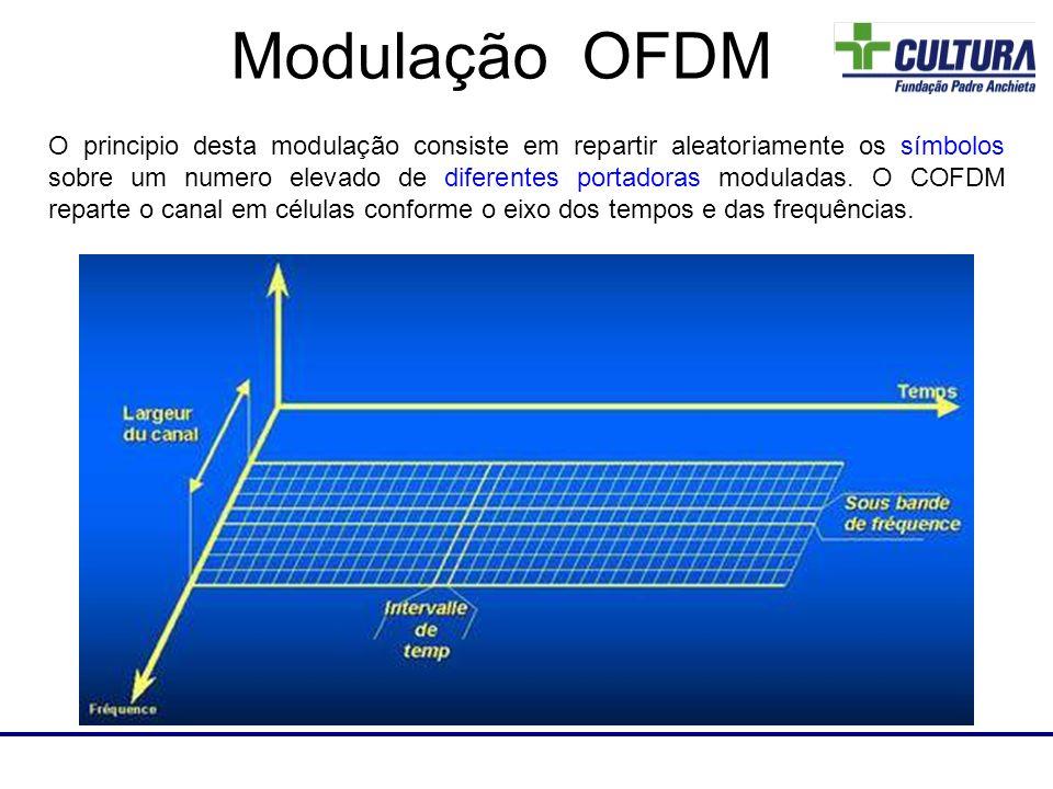 O principio desta modulação consiste em repartir aleatoriamente os símbolos sobre um numero elevado de diferentes portadoras moduladas. O COFDM repart