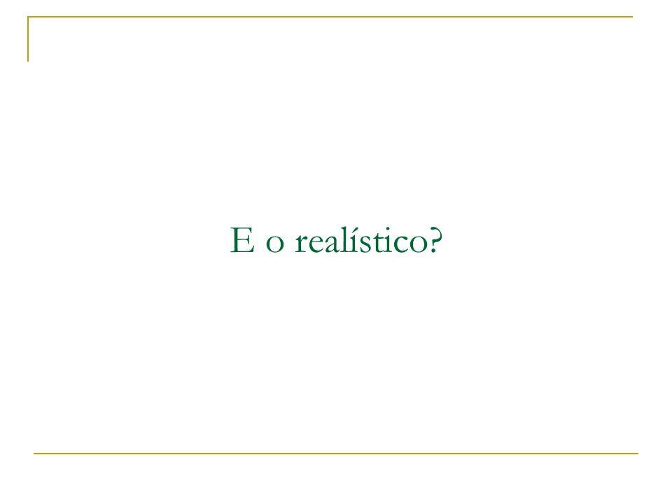 E o realístico?