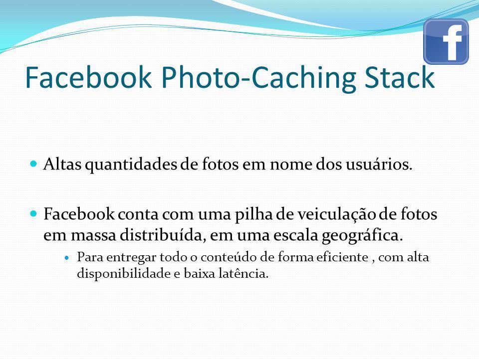 Facebook Photo-Caching Stack Altas quantidades de fotos em nome dos usuários. Facebook conta com uma pilha de veiculação de fotos em massa distribuída