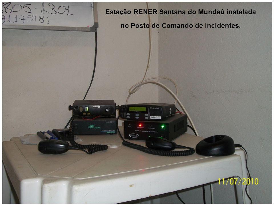 Estação RENER Santana do Mundaú instalada no Posto de Comando de incidentes.
